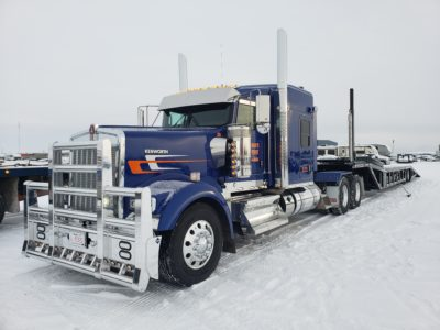 New Kenworth for auto transport.